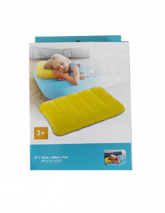 Perna Gonflabila Copii pentru Casa, Masina sau Camping, 43 x 28 x 9cm, Premium 0