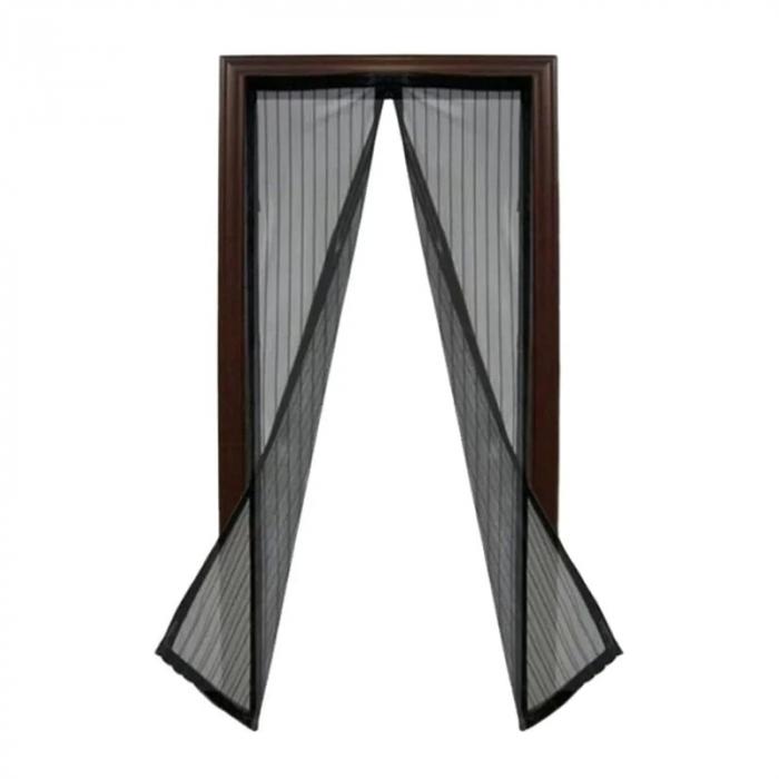 Plasa cu Magnet pentru Fereastra impotriva Tantarilor, Mustelor si a Insectelor Zburatoare, 120 x 120cm, Negru [3]