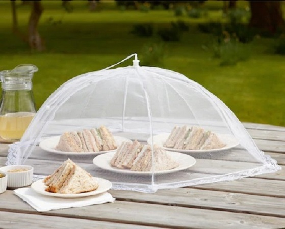 Umbrela de Protectie Impotriva Insectelor, Furnicilor si Gandacilor pentru Farfurii, Caselore si Alimente, Alb, 31cm x 31cm [1]