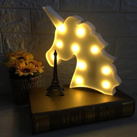 Lampa de Veghe cu Lumina Ambientala LED  - Unicorn Roz Lucios Sclipitor 3