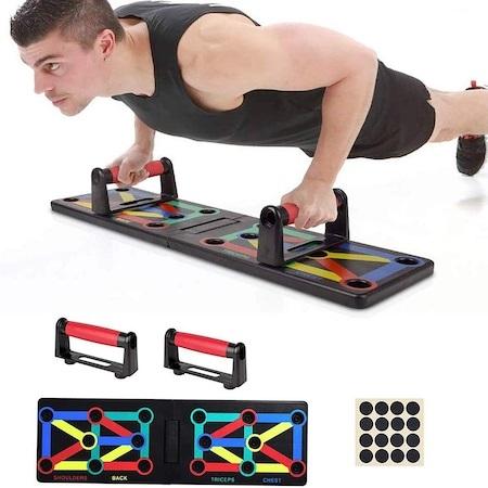Placa Fitness pentru Antrenamente Sportive si Flotari, cu Manere pentru Tonifiere Muschi Abdominali, Piept, Biceps, Triceps, Spate, Umeri [4]