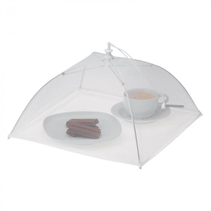 Umbrela de Protectie Impotriva Insectelor, Furnicilor si Gandacilor pentru Farfurii, Caselore si Alimente, Alb, 31cm x 31cm [3]