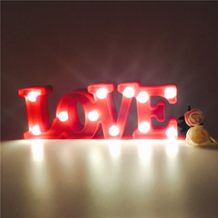 Lampa de Veghe cu Lumina Ambientala cu 11 Becuri LED Lumina Calda - Love cu Lumini 2