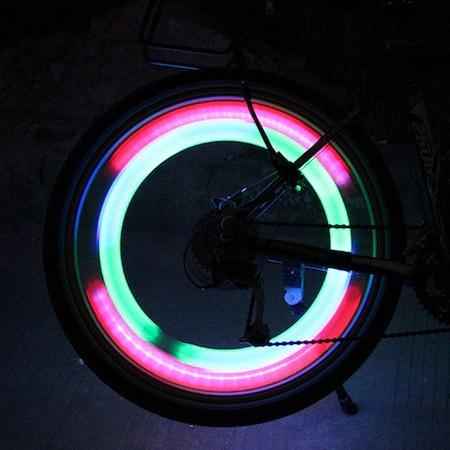Set 2 Lumini LED pentru Spite Bicicleta, Multicolor cu 3 Moduri de Iluminare, Impermeabile [4]