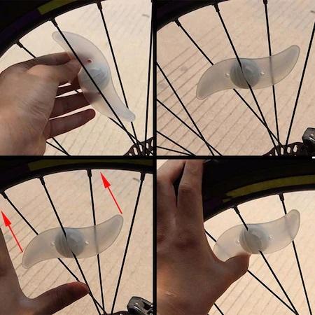 Set 2 Lumini LED pentru Spite Bicicleta, Multicolor cu 3 Moduri de Iluminare, Impermeabile [7]