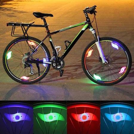 Set 2 Lumini LED pentru Spite Bicicleta, Multicolor cu 3 Moduri de Iluminare, Impermeabile [3]