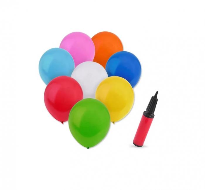 Set 25 de Baloane Multicolore, 30cm, cu Pompa Manuala, Pentru Petreceri [4]