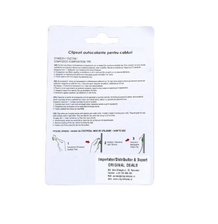 Set 4 Clipsuri Carlige Autocolante pentru Sustinere si Organzare 6 Cabluri, Premium [2]