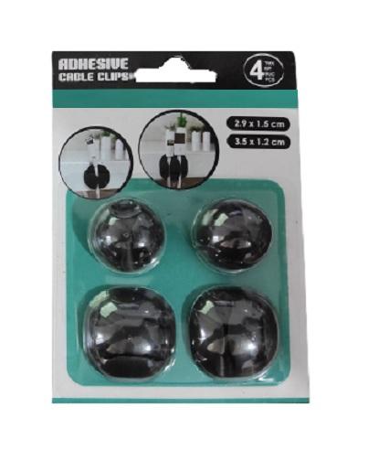 Set 4 Clipsuri Carlige Autocolante pentru Sustinere si Organzare 6 Cabluri, Premium [3]