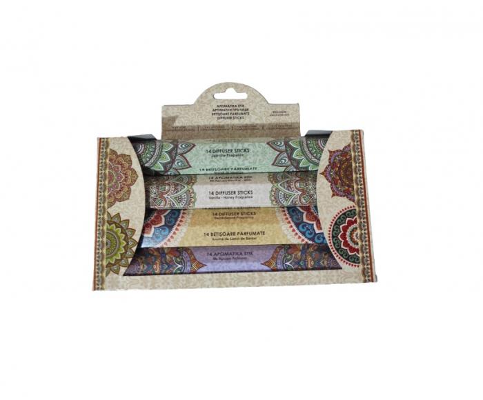 Set 56 Betisoare Parfumate cu 4 Arome Diferite pentru Aromaterapy si Relaxare, Iasomie, Vanilie si Miere, Santal, Lavanda, Original Deals® [3]