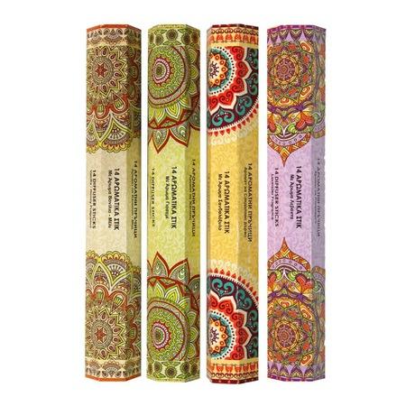 Set 56 Betisoare Parfumate cu 4 Arome Diferite pentru Aromaterapy si Relaxare, Iasomie, Vanilie si Miere, Santal, Lavanda, Original Deals® [4]