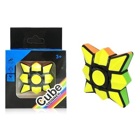Jucarie Inteligenta Spinner Rubik cu 6 Culori si Diferite Posibilitati de Aranjare, Jucarie Antistres, Multicolor 0