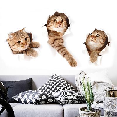 Sticker Autocolant Decorativ pentru Multiple Suprafete cu 3 Pisici Simpatice [0]