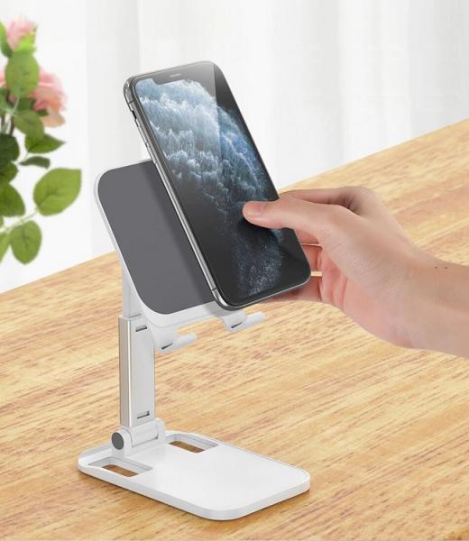 Suport Premium pentru Telefon Smartphone sau Tableta pentru Masa sau Birou - Portabil Pliabil cu Reglaj Multiplu 0