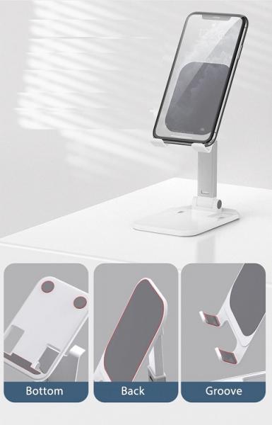 Suport Premium pentru Telefon Smartphone sau Tableta pentru Masa sau Birou - Portabil Pliabil cu Reglaj Multiplu 6