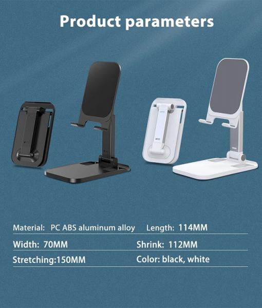 Suport Premium pentru Telefon Smartphone sau Tableta pentru Masa sau Birou - Portabil Pliabil cu Reglaj Multiplu 8