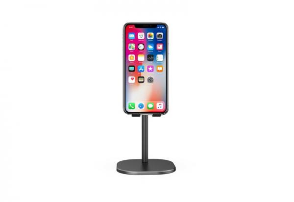 Suport Premium Metalic pentru Tableta sau Telefon cu Inaltime si Unghi de Vizualizare Reglabil - Negru 5