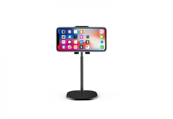 Suport Premium Metalic pentru Tableta sau Telefon cu Inaltime si Unghi de Vizualizare Reglabil - Negru 6