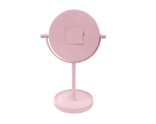 Oglinda de Masa pentru Machiaj si Make Up, cu Lumina LED Integrata, Wireless, cu Baterii, Buton Touch Screen On/Off, Premium, Roz [5]