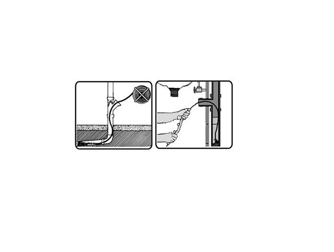 Sarpe pentru Desfundat Tevi de Scurgere, Compatibil pentru Chiuveta, Cada sau Dus, Metalic, 3 Metri [2]