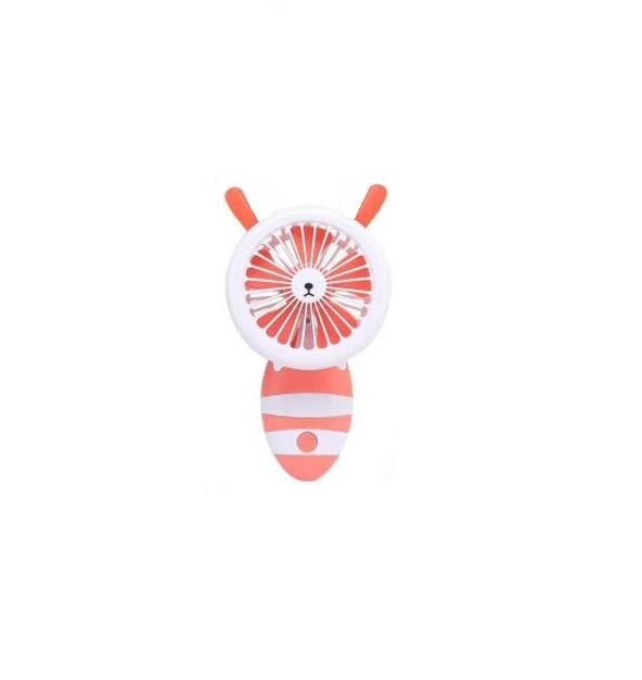 Ventilator de Mana Foarte Puternic cu Acumulator Intern si Incarcare la USB, cu Lumini LED, Pliabil, Premium, Portocaliu [2]