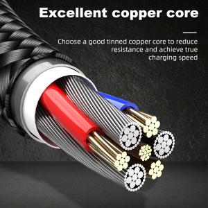Cablu USB Textil Fast Charge cu Mufa Magnetica 360° - USLION1