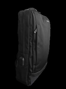 Ghiozdan tip Rucsac Profesional pentru Laptop cu Mufa Smart USB si AUX cu Mufa Jack- 7 Compartimente - Negru1