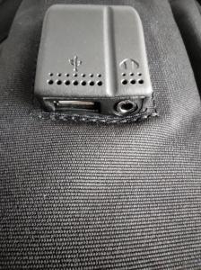 Ghiozdan tip Rucsac Profesional pentru Laptop cu Mufa Smart USB si AUX cu Mufa Jack- 7 Compartimente - Negru6