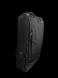 Ghiozdan tip Rucsac Profesional pentru Laptop cu Mufa Smart USB si AUX cu Mufa Jack- 7 Compartimente - Negru5