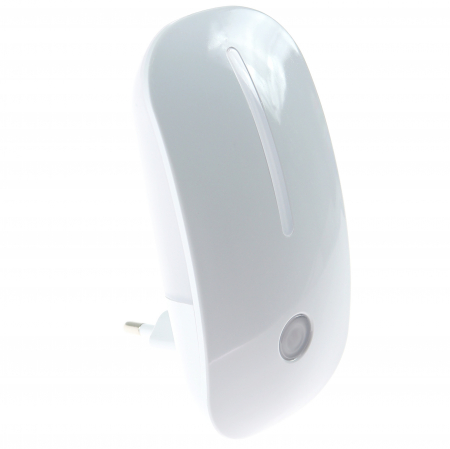 Lampa de Veghe cu Senzor de Lumina, tip Mouse pentru Priza, Lumina Alba, Consum Redus 1W, Universal, Alb1