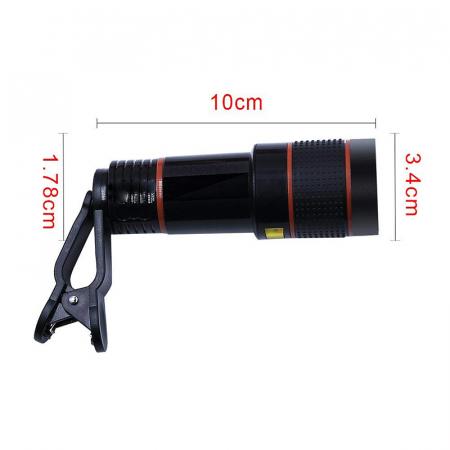 Lentila Optica ZOOM pentru Telefon - Telescop Monoclu 12x7