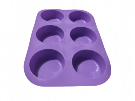 Forma pentru Briose si Prajituri din Silicon Non-Stick, Mov, Calitate Premium [1]