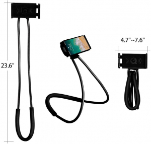 Suport Multifunctional Flexibil pentru Gat Reglabil compatibil Telefon sau Tableta Premium Vlog Universal2