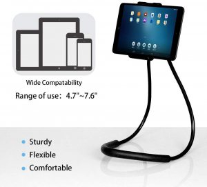Suport Multifunctional Flexibil pentru Gat Reglabil compatibil Telefon sau Tableta Premium Vlog Universal6