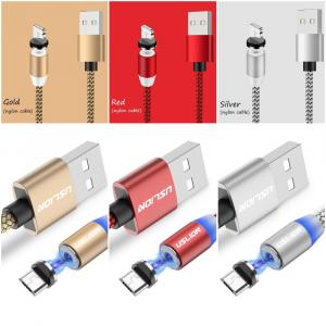 Cablu USB Textil Fast Charge cu Mufa Magnetica 360° - USLION7