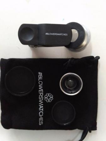 Set Lentile Profesionale 3in1 pentru Telefon sau Tableta 180 Fisheye, 10X Macro Lens, 0.65X Wide Angle Lentila Foto Video Lentile Foto Video Lentile pentru telefon Fisheye [2]