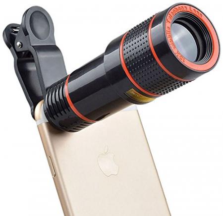 Lentila Optica ZOOM pentru Telefon - Telescop Monoclu 12x4
