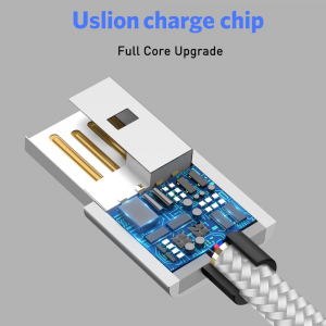 Cablu USB Textil Fast Charge cu Mufa Magnetica 360° - USLION8