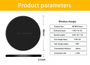 Incarcator Wireless Fast Charge Ultra Slim Compatibil Android IOS11