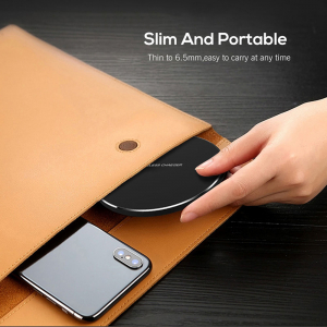 Incarcator Wireless Fast Charge Ultra Slim Compatibil Android IOS9