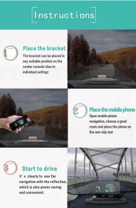 Heads Up Display HUD Suport Auto Telefon GPS Navigatie9