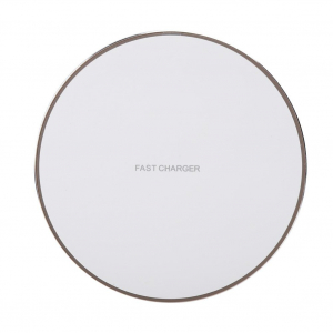Incarcator Wireless Fast Charge Ultra-Slim Qi Compatibil Android IOS 1.2A - Alb1