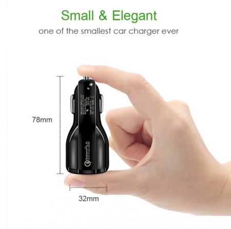 Incarcator Auto USB Fast Charge 3.1A & LED Blue5