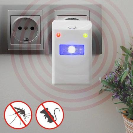 Aparat Multifunctional cu Ultrasunete Impotriva Rozatoarelor si Insectelor, 220V, Non Toxic, Alb0