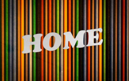 Autocolant Sticker Oglinda Acrilica din PVC, 4 Litere, Home, 6 cm [0]