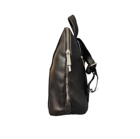 Ghiozdan cu 5 Buzunare si Bretele Ajustabile din Piele Ecologica Negru, Model Deosebit Premium [5]