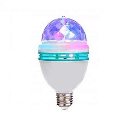Bec cu Stroboscop Disco si 5 Lumini, pentru Petreceri [0]