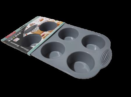Forma din Silicon pentru Briose si Prajituri, Non-Stick, Gri, Design Deosebit si Calitate Premium [1]