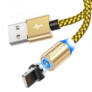 Cablu USB Textil Fast Charge cu Mufa Magnetica 360°16