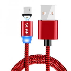 Cablu USB Textil Fast Charge cu Mufa Magnetica 360°17